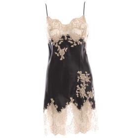 Marjolaine - Caprice silkekjole med blonde black/gravier