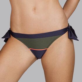 Andres Sarda - Quetzal lav bikinitrusse med bindebånd kaki -