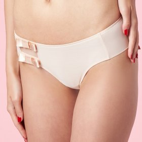 Chantal Thomass - Audacieuse boxer string beige dore