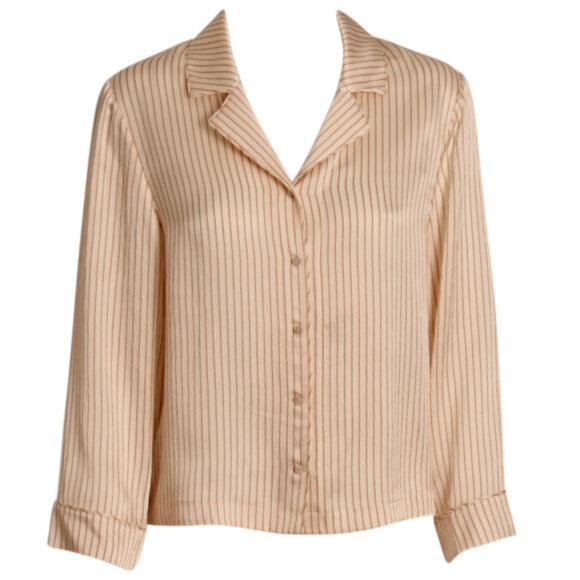 ERES - Riga CREMA skjorte silke rayures dolce