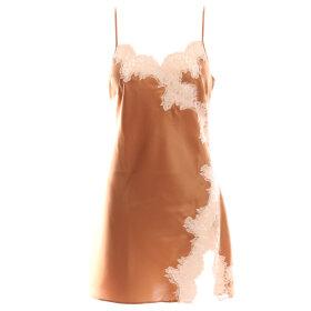 Marjolaine - Etincelle silkekjole med blonde noisette/sable