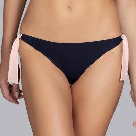 Andres Sarda - Belle lav bikinitrusse med bånd onyx-