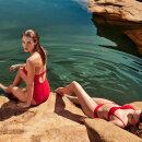 MARIE JO SWIM - Brigitte stropløs badedragt med fyld true red