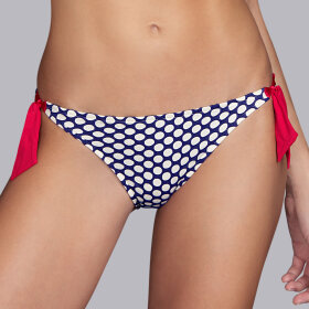 Andres Sarda - Wakaya lav bikinitrusse med bånd marine -