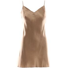 Marjolaine - Soie Unie ODA silkekjole bronze