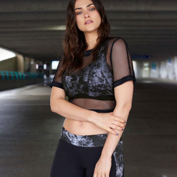 PrimaDonna - MYLA top mesh NET black