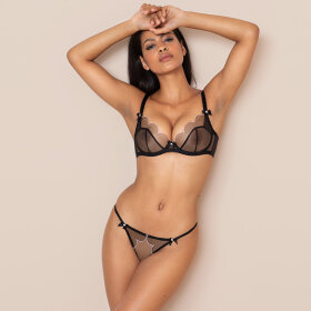 AGENT PROVOCATEUR - Lorna string black-