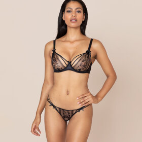 AGENT PROVOCATEUR - Tanya string black
