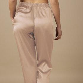 Marjolaine - Soie Unie Pantalon Silkebukser sable