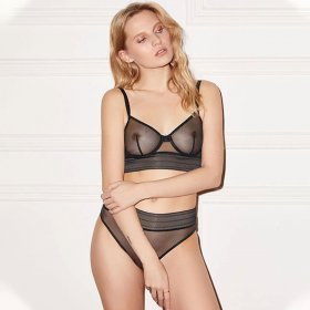ELSE LINGERIE - Bare Long Line bh med bøjle black