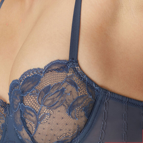 Marie Jo - KATE bh balconet lodret søm blue etoile