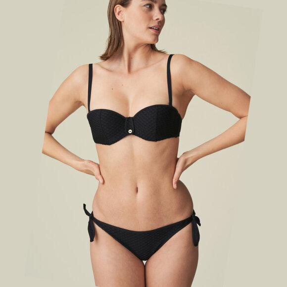 MARIE JO SWIM - Brigitte lav bikinitrusse bindebånd black