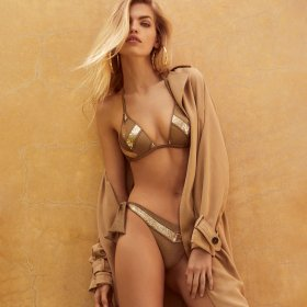 Andres Sarda - Moon bikinitop med fyld mini trekant gold