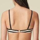MARIE JO SWIM - Merle bikinitop med fyld hjertefacon noir rayure