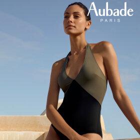 Aubade - Beaute Sublime badedragt dyb udskæring kaki