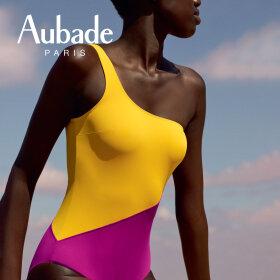 Aubade - Beaute Sublime badedragt 1 skulder med bh jaune dore