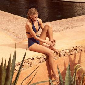 Andres Sarda - Boheme bikinitop med fyld trekant night sky