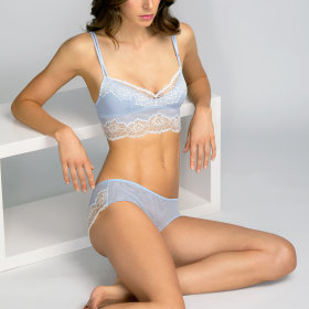 Andres Sarda - Eden Rock Image bh long line pale blue -
