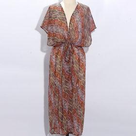Echo Design - Pyhton midi længde kimono coral