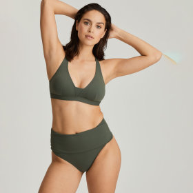 PrimaDonna Swim - Holiday høj folde bikinitrusse dark olive