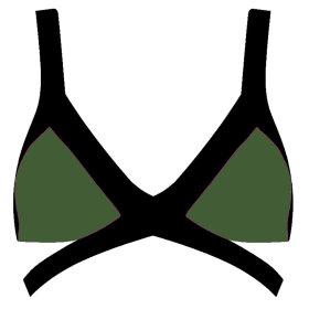 AGENT PROVOCATEUR - Mazzy bikinitop khaki/black
