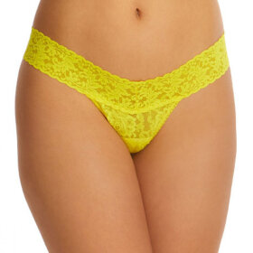 Hanky Panky - Signature Lace Low Rise thong zest yellow