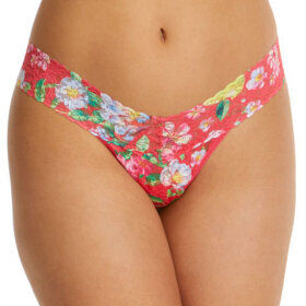 Hanky Panky - Superbloom low rise thong pink multi