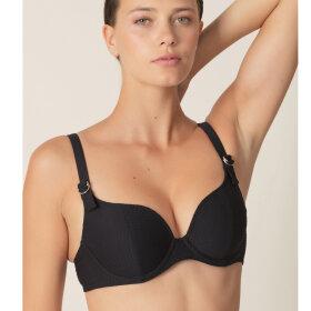 MARIE JO SWIM - Rosanna bikinitop hjertefacon med fyld black -