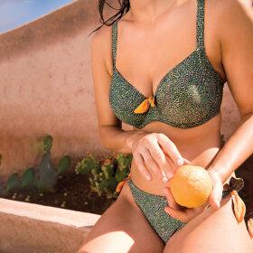 PrimaDonna Swim - Jacaranda bikinitop fuld skål cypress green -