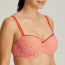 PrimaDonna Swim - Atlas bikinitop med fyld balconet red pepper -