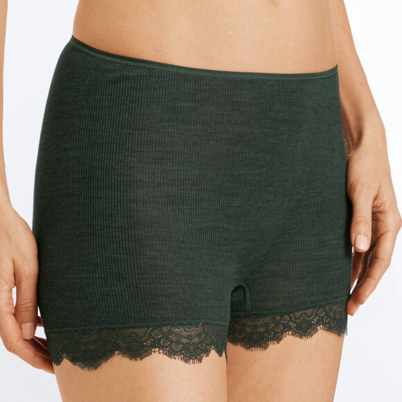 Hanro - Woolen Lace shorts green marble