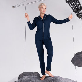 Hanro - Natural Comfort Pyjamas deep navy -