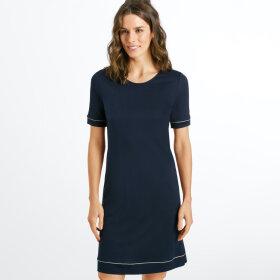 Hanro - Natural Comfort kjole 90 cm 1/4 ærme deep navy -