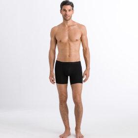 Hanro - Cotton Essentials herreshorts med ben / all black