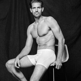Hanro - Cotton Essentials herreshorts med ben / all white