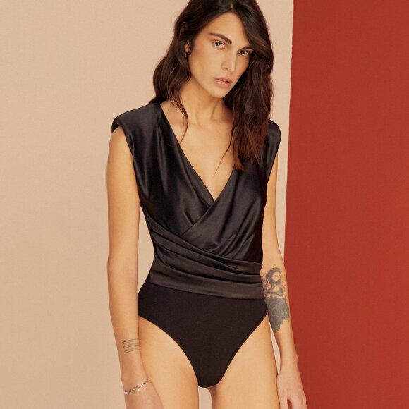 ELSE LINGERIE - Giselle silke body black