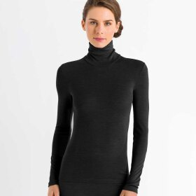 Hanro - Woolen Silk T-shirt turtle neck black
