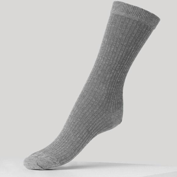 DEAR DENIER - Mie Cashmere ankelstrømpe grey