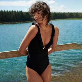 MARIE JO SWIM - Aurelie badedragt dybt V - black