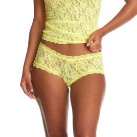 Hanky Panky - Signature Lace boyshorts / citrus fizz yellow