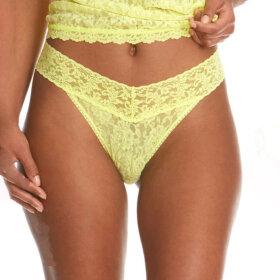 Hanky Panky - Signature Lace Org.Rise string / citrus fizz yellow