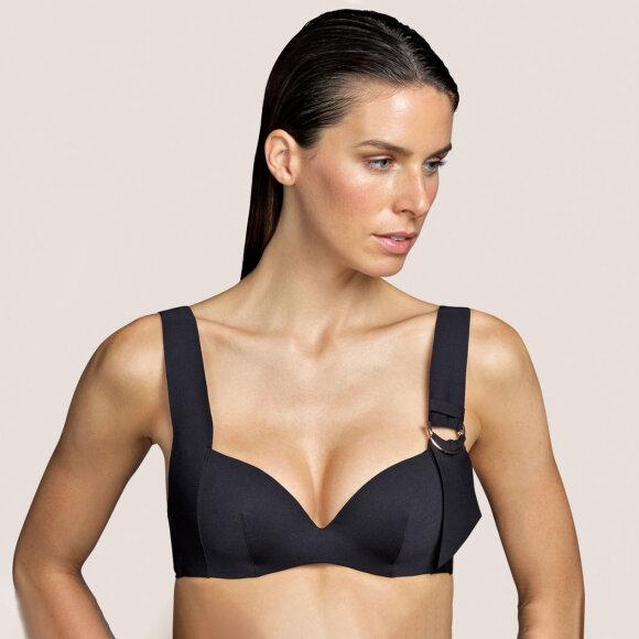 Andres Sarda - Kathryn bikinitop med fyld og bøjle - black
