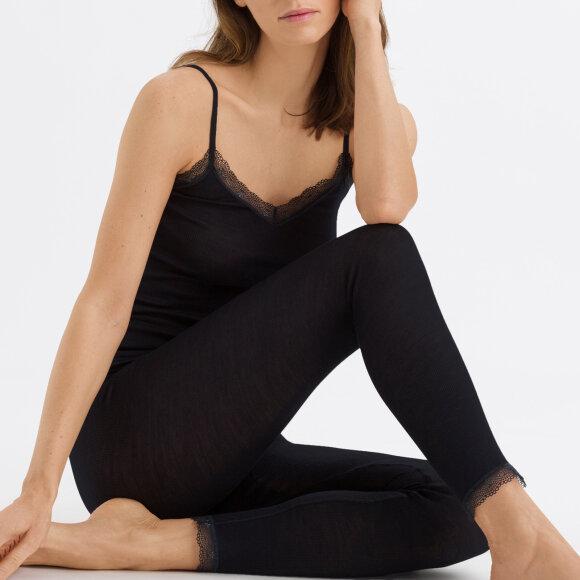 Hanro - Woolen Lace Leggings black
