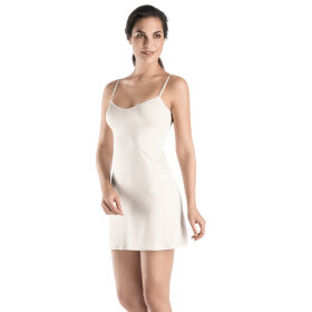 Hanro - Satin Deluxe kjole viskose off white