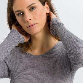 Hanro - Tessa T-Shirt 1/1 Ærme silver