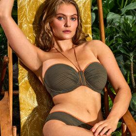 PrimaDonna Swim - Marquesas bikinitop med fyld stropløs paradise green