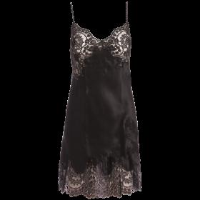 Marjolaine - JARDIN silke kjole m sort blonde black